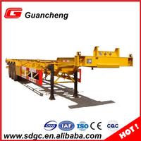 New design skeleton bed semi trailer container truck trailer in China