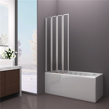 4mm Tempered Glass Four Folding Bath Shower Screen
