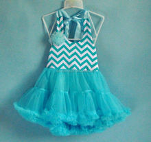 Good quality clothes adorable baby girls dress 2014 summer baby garment peasant chevron dress for summers