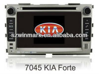 "7"" double din in dash HD car dvd gps for KIA-FORT"