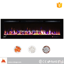 "Newest 72"" recessed decor flame electric fireplace for decoration"
