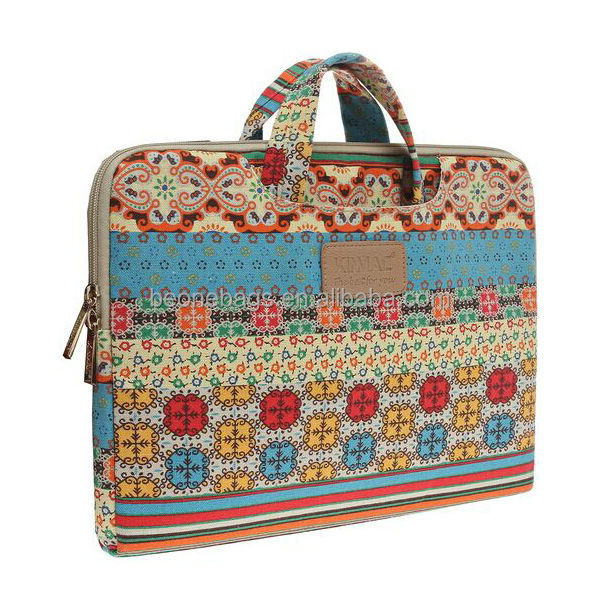 2014 printing flowers cheap laptop briefcase 11inch 12 Inch 13 Inch 11.6 Inch/12.5 Inch 13.3