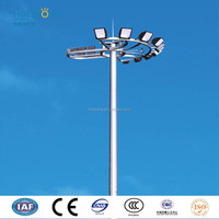off road square lighting with square tower pole of hot dip galvanized steel
