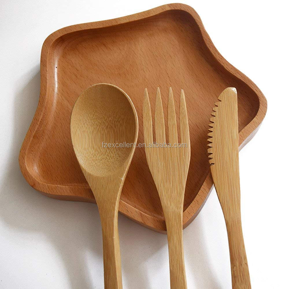 Wholesale Fast Delivery 304 Stainless Steel Straw and Naturel Travel Bamboo Cutlery Set
