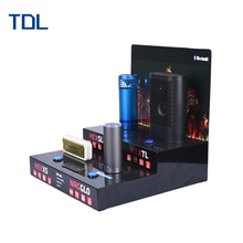 Counter top Acrylic bluetooth speaker display with USB charging interface