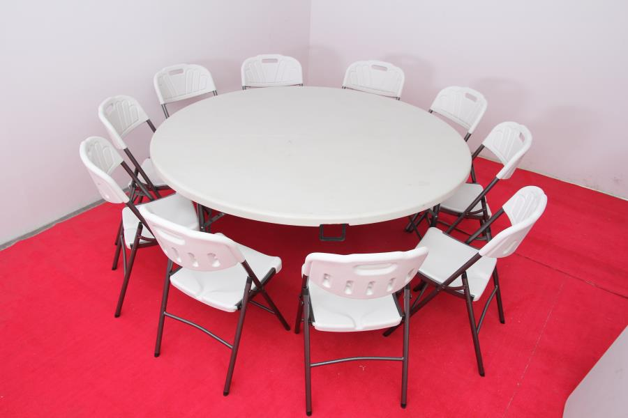"HDPE Plastic 72"" Round Banquet Folding Table"