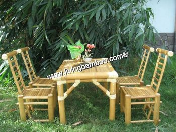 BREST BAMBOO DINING SET - BAMBOO FURNITURE