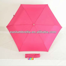 21 inch curve handle manual open 3 folding umbrella