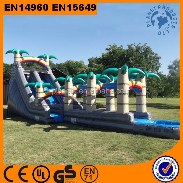 Tropical Giant Inflatable Water Slide Clearance For Sale