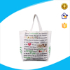 plain design white cotton bag for packing,cotton canvas tote bag with full color printing