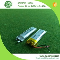 501240 3.7v 180mah rechargeable lithium ion battery special battery for medical products