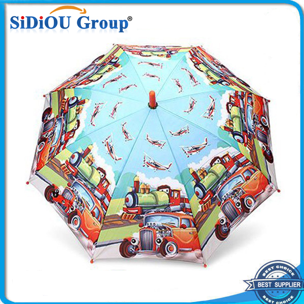 Beautiful 8 Ribs Unique Vehicle Print Umbrellas