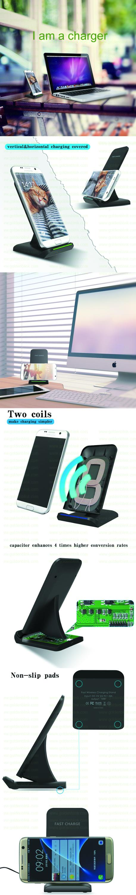 2017 Newest white color Android Qi Wireless Mobile Charging