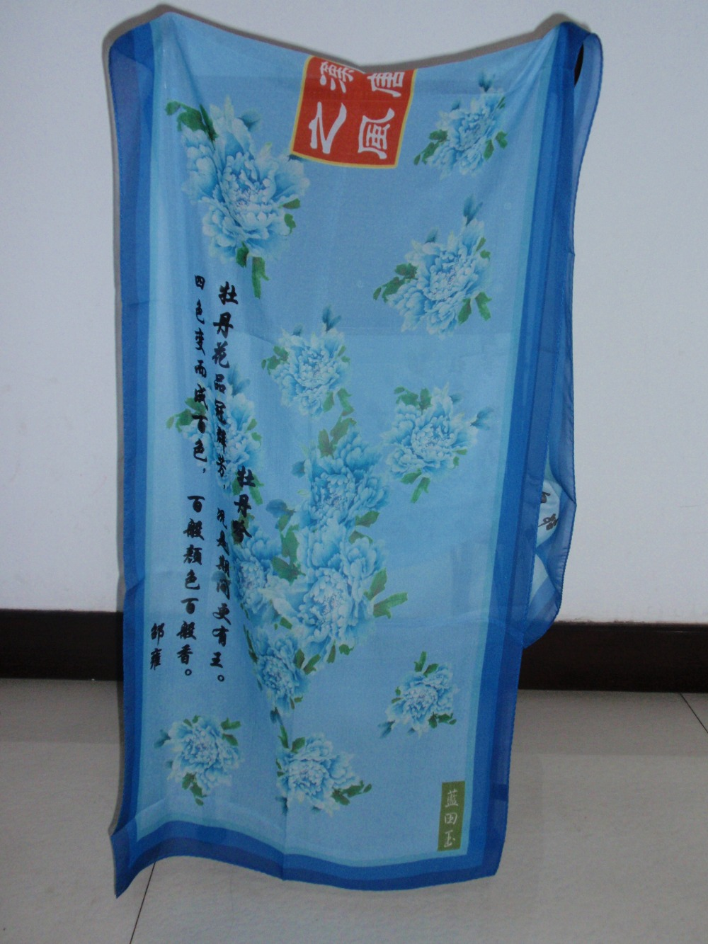 Factory custom printing twill silk scarf 90x90 for women