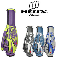 Helix women designer golf bags with trolley wheels / Japan golf bags manufacture supply / ladies design pu golf bags with wheels