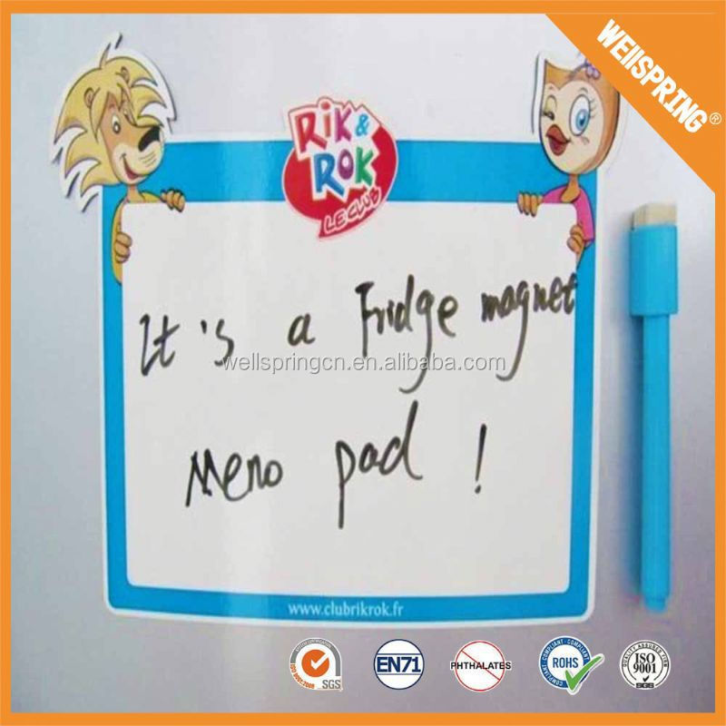 Personalized decorative magnetic dry erase board with marker pen