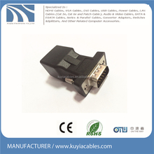 VGA to Rj45 adapter D-Sub single extender connector molding