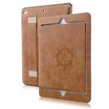 For iPad Mini Case, Auto Sleep Wake Suede PU Flip Foldable Leather Tablet Case For iPad mini 4, Folio Stand Cover For iPad mini