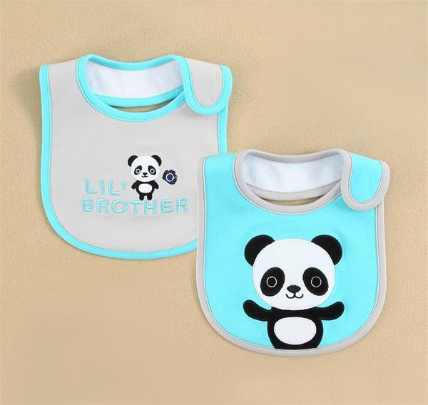 2015 baby clothing cotton baby bibs PVC waterproof