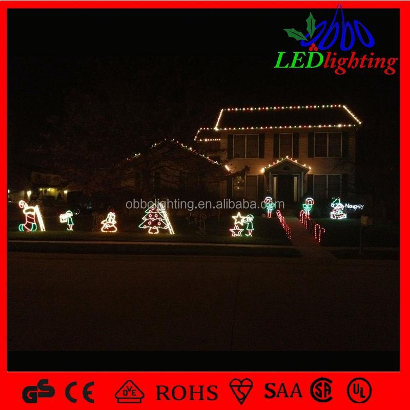2015 CE ROHS 12V 24W led christmas string waterproof falling snow motif fancy decorative branch blue rope lights