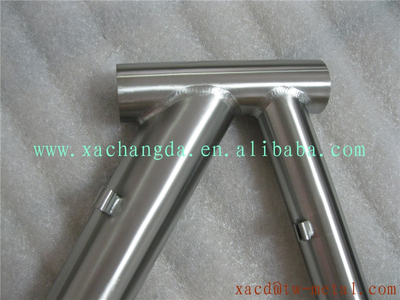 titanium couple road bike frame with handing brush finished made in China