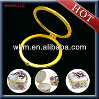 Gold Round Metal Jewelry Box Hardware