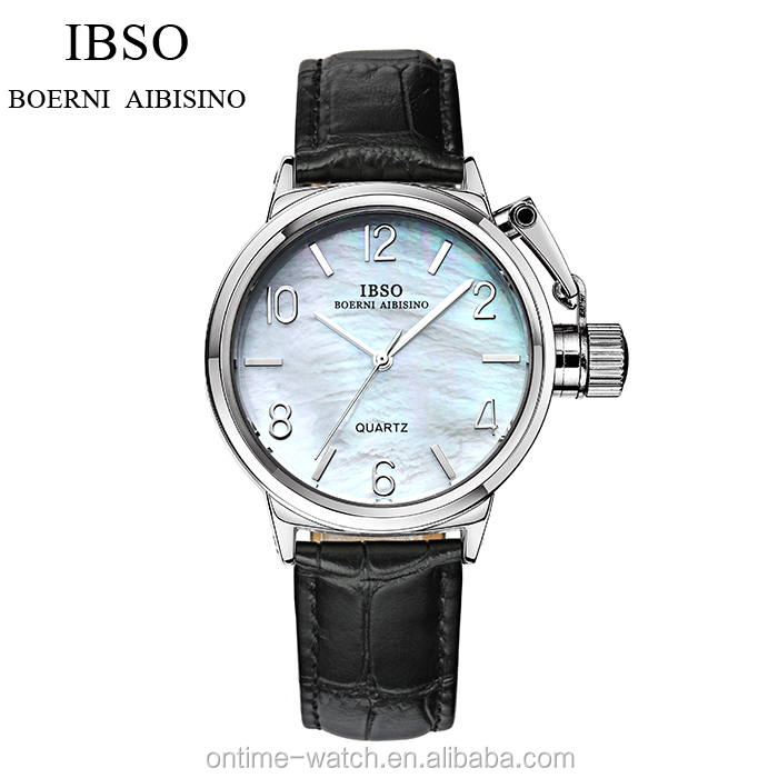 IBSO beautiful ladies watch genuine leather ladies fashion watches latest