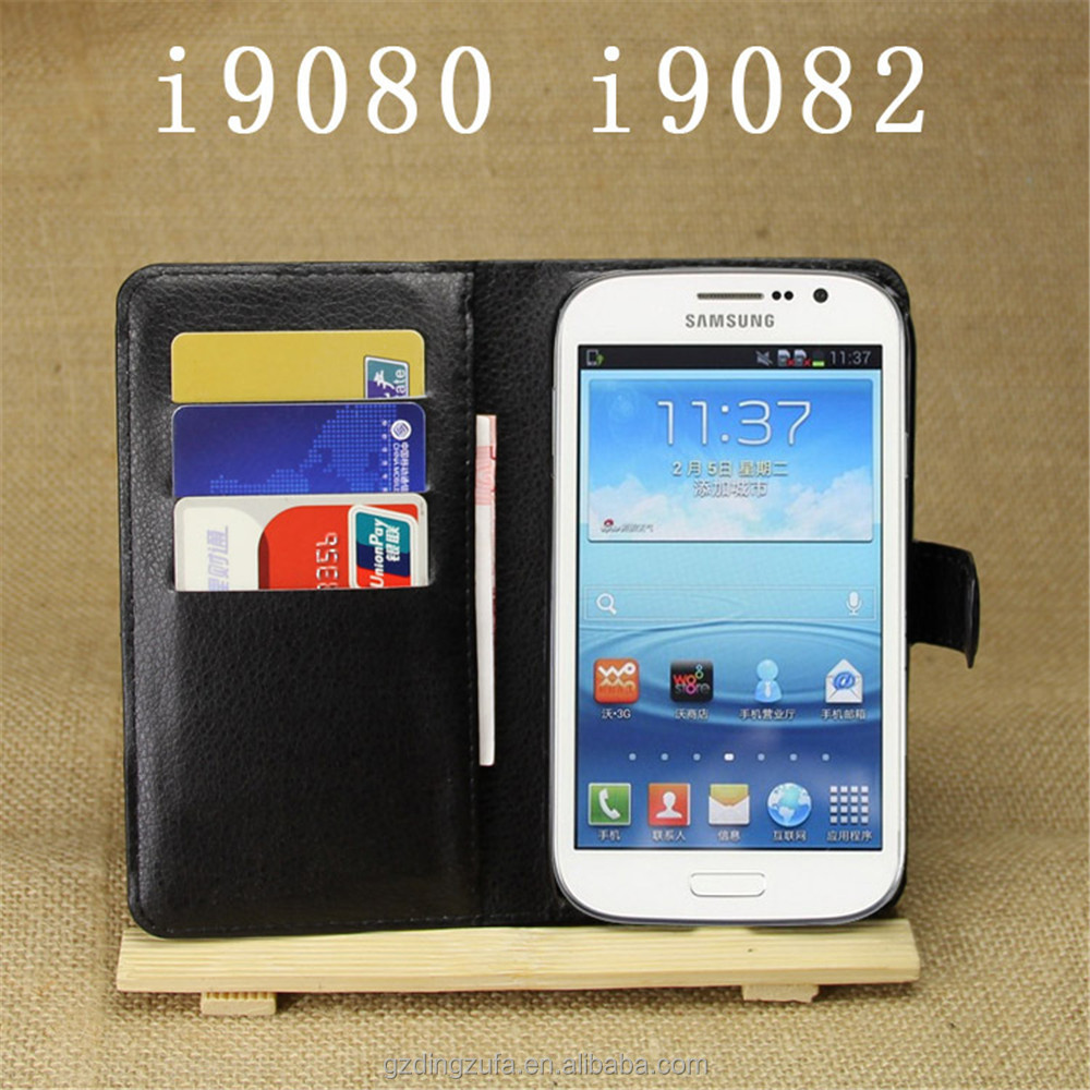 PU Leather Wallet Mobile Phone Case For Samsung galaxy Grand DUOS i9082