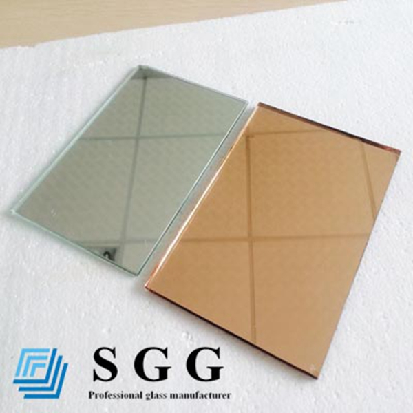 Top quality 6mm online golden reflective glass