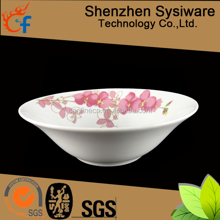 Stock cheap price hand painted ceramic bowls, ceramic hand painted soup bowl