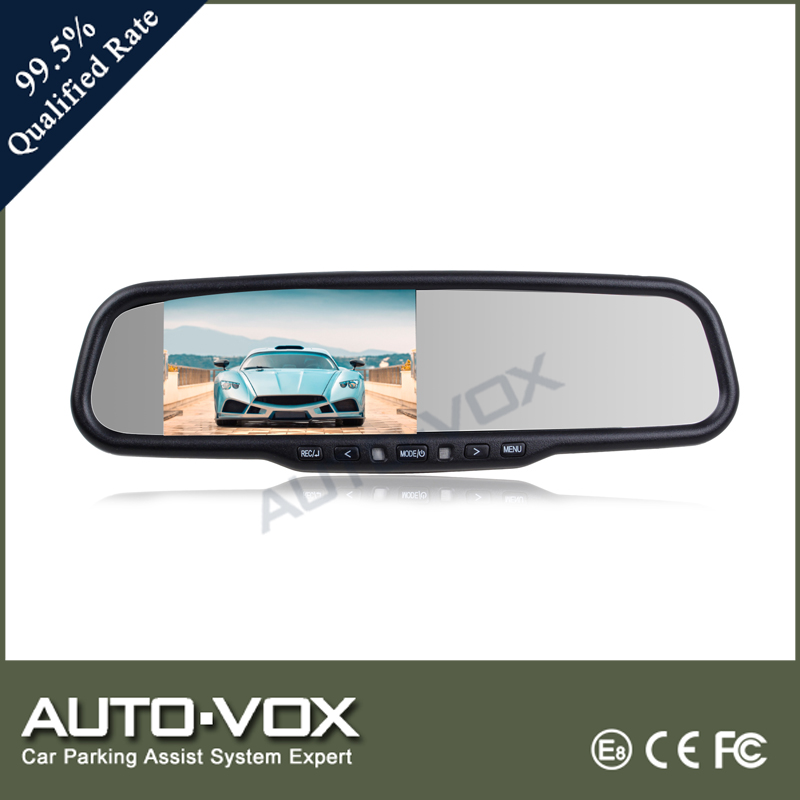 car dvr blackbox camera full hd 1080p 4.3 Rear view mirrors