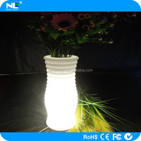 App control Lighting spiral vase / Smart phone control LED spiral furniture LED illuminated flower pot/waterproof LED vase light