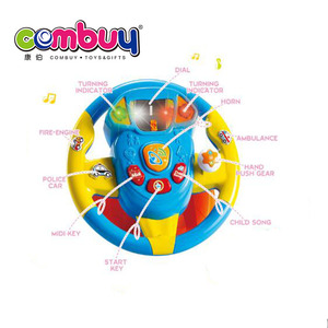 New product musical plastic kids steering wheel ride on toy
