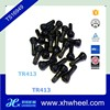 Universal TR413 Snap-In Tire Valve Stems Short Black Rubber Valve Cap