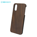 Genuine wood bumper phone cases for iphone X hybrid case