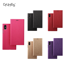 CTUNES Book Style Slim Folio Flip Pu Leather With Stand TPU Bumper Back Mobile Phone Cases Cover For Apple iPhoneX
