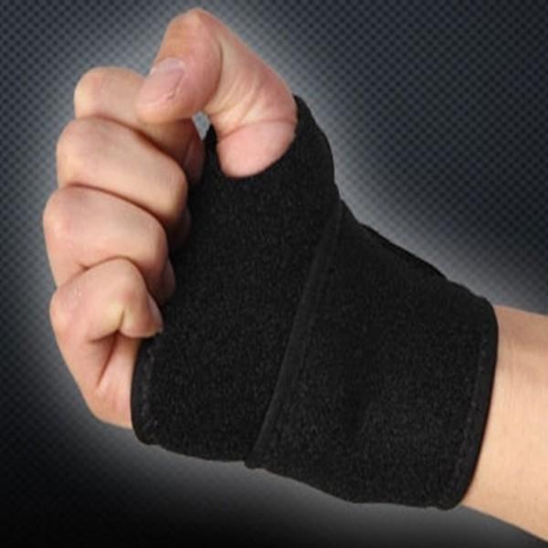 Plastic neoprene weight lifting wrist support for back pain