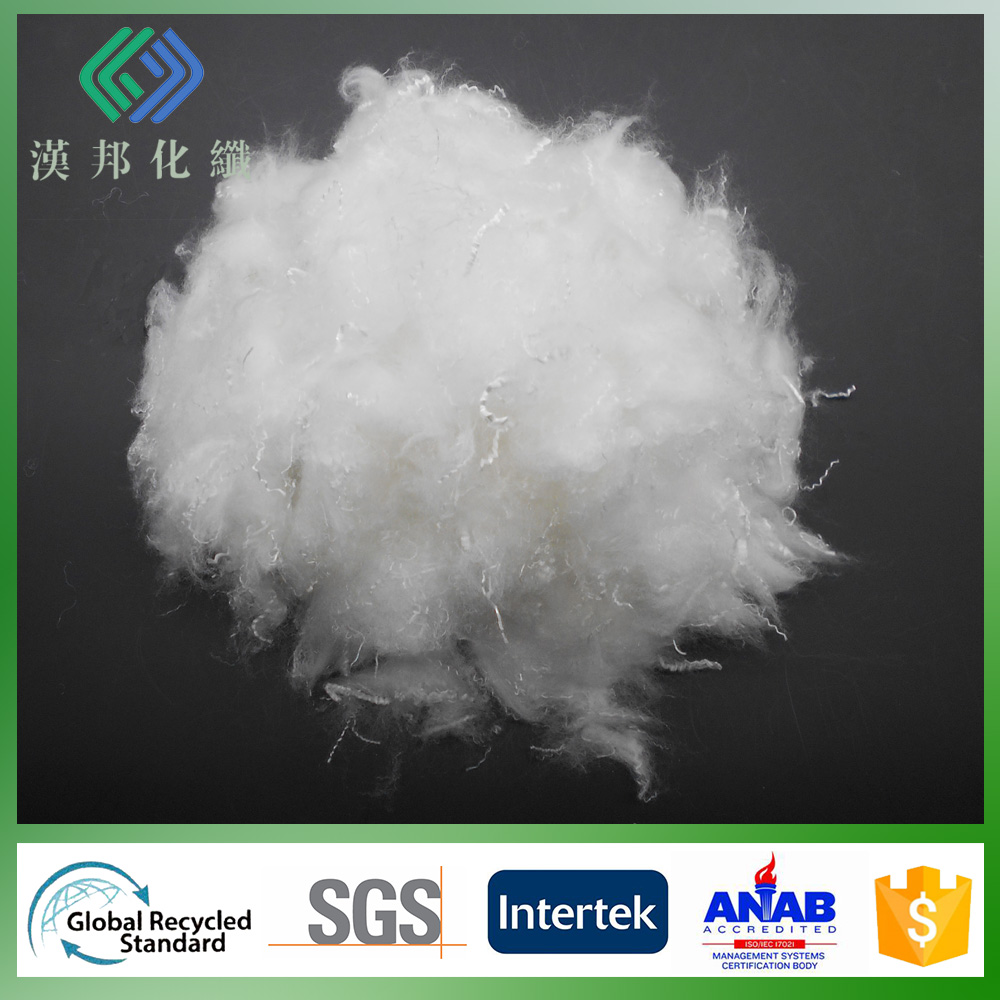 0.9D/32mm silicon microfiber polyester filling