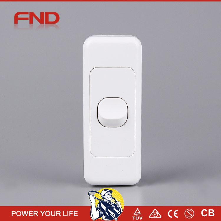 One Gang Australian standard electrical wall switch and socket with SAA certification
