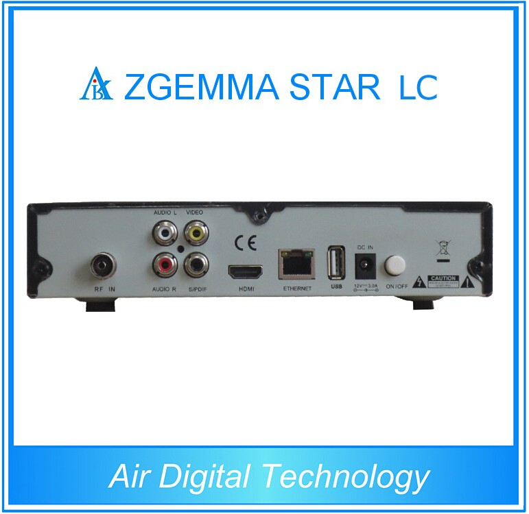 2017 New Zgemma star LC satellite receiver DVB-C HDTV set top box