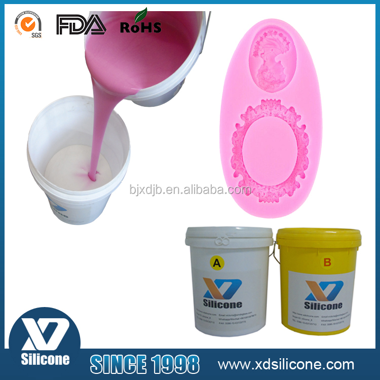 XD6225 low viscosity rtv silicone rubber prices liquid silicone rubber mould making medical grade liquid silicone rubber