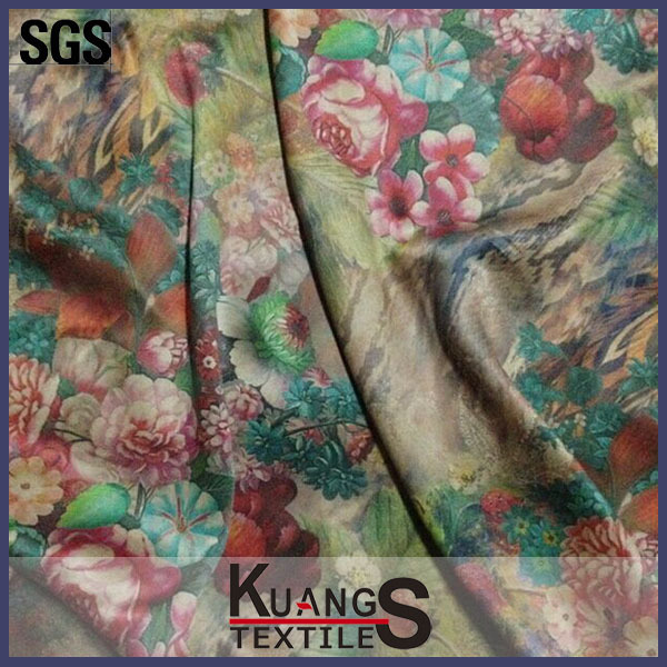 Brand new printed silk floral dress fabric factory in China