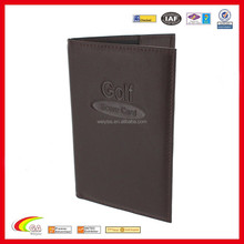 2016 Most Popular Wholesale Golf Leather Score Card Holder with Pencil
