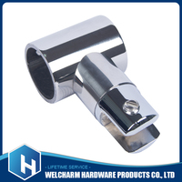 High qulaity 3 way pipe connector stainless steel round tube connectors 25mm
