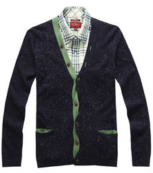 Men's fashion patches sweater cardigan