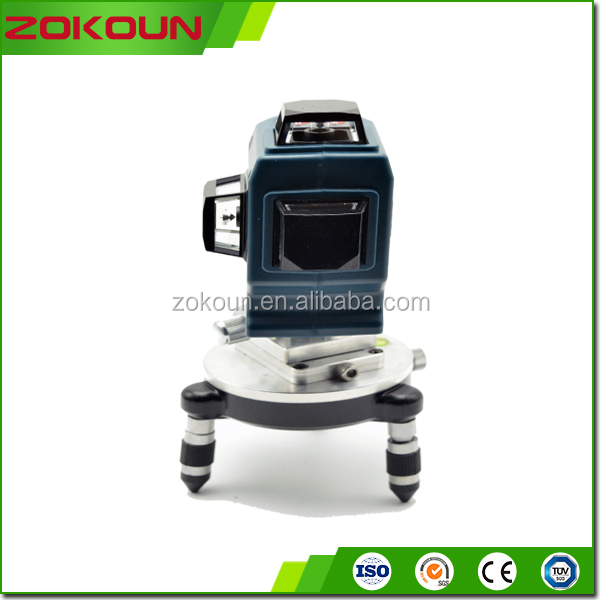 Trade assurance 3D laser level, building tools cross line multi line laser