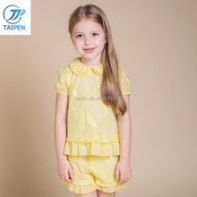 Fashion Puff Sleeve Girls Boutique Clothing Set Wholesale Children's Clothes