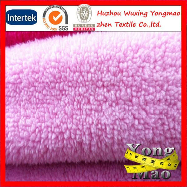 100% polyester brushed coral fleece fabric for bedding fabric