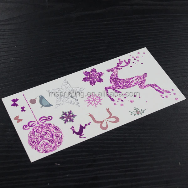 custom and beuaty metallic tattoo sticker,temporary tattoo best tattoo ink