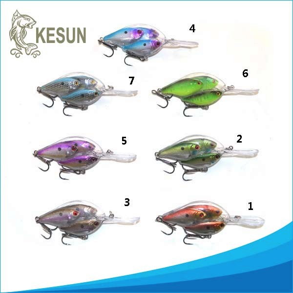 New design 4 fish group lure school with feather crank baitball lures